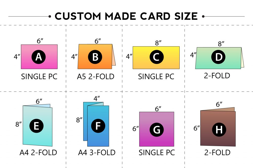 CUSTOM MADE CARD SIZE