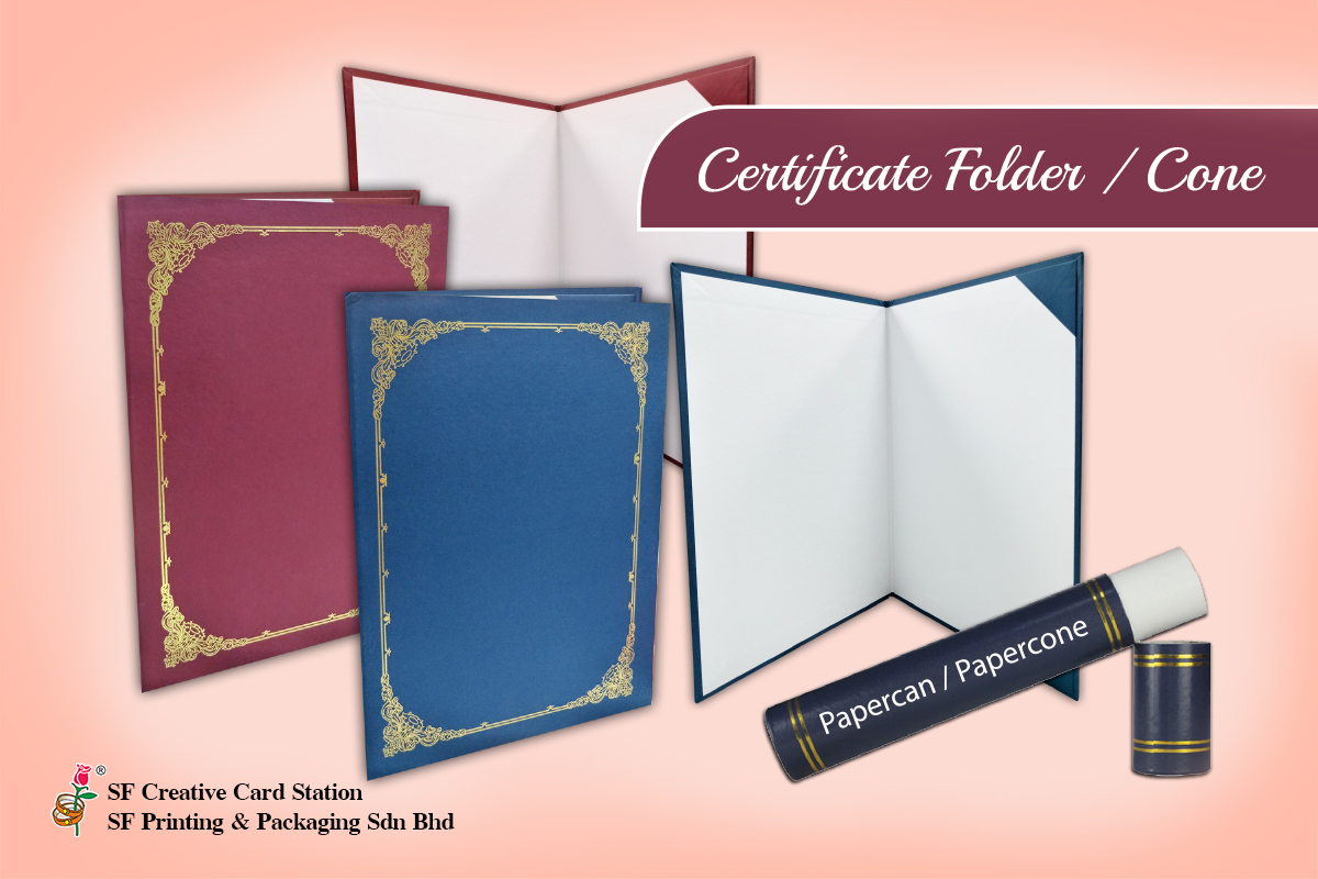 Ready Made Certificate Folder Printing