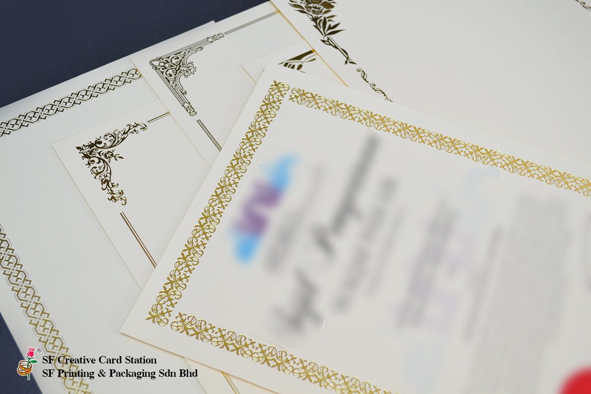 READY MADE CERTIFICATE BORDER PRINTING
