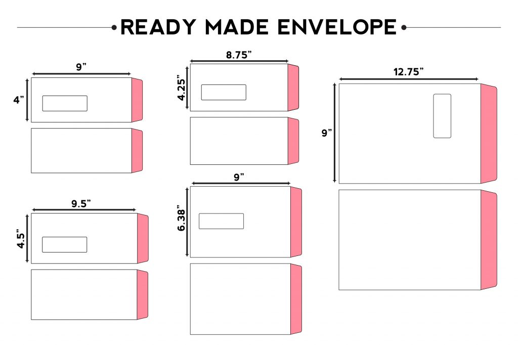 READY MADE ENVELOPE SIZE