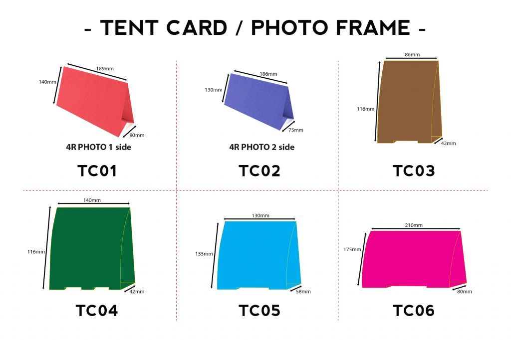 TENT CARD SIZE